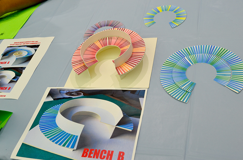 Artist Brent Aldrich and design studio w/purpose helped students with prototypes
