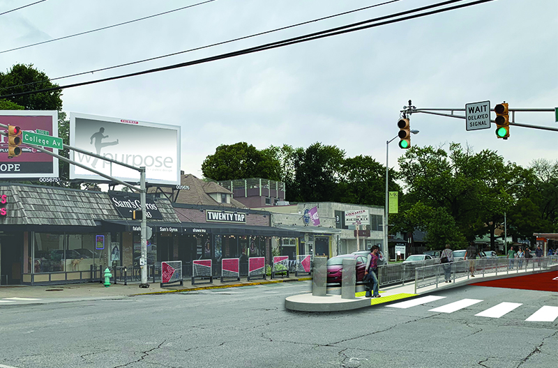 College Ave & 54th St Render